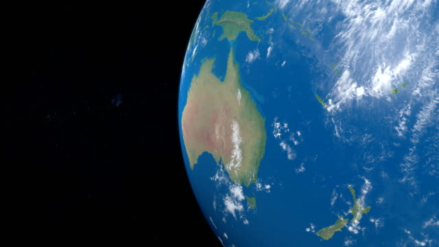 Polynesia, Micronesia and Melanesia in planet earth, view from outer space video