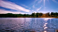 istock Pond and sun reflection 187608632