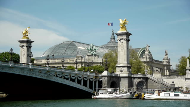 Pont Alexandre III and Grand Palais at Paris, France