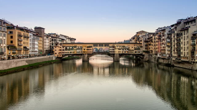 Ponte Vecchio, Firenze. Time Lapse at sunset video