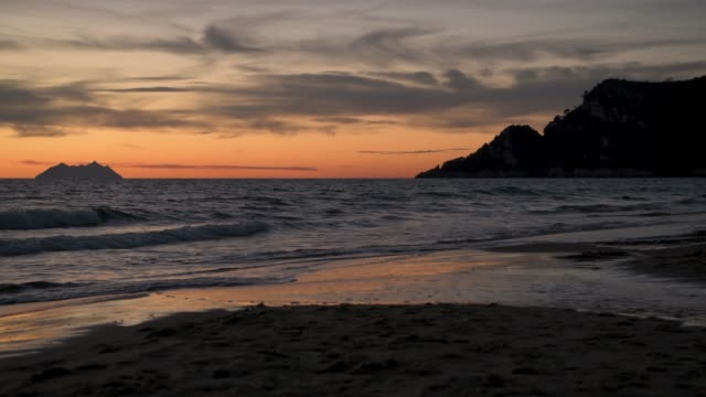 Pontine Islands and San Felice Circeo cape at Sunset Tyrrhenian sea at Sunset. On the left hand side the Pontine Islands. On the right hand side San Felice Circeo cape. Province of Latina. Italy. cape peninsula stock videos & royalty-free footage
