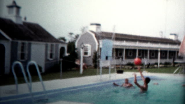 1959 - Pool Basketball Summer Fun Vacation Home