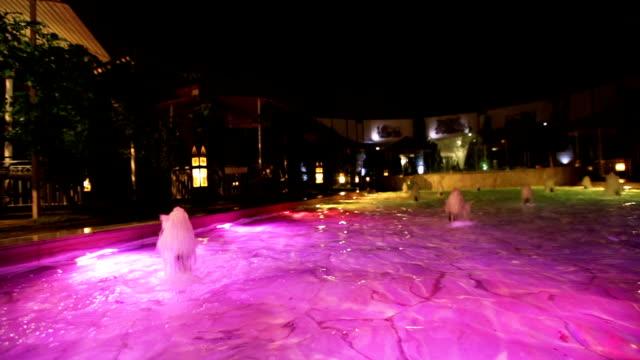 Pool with illumination video