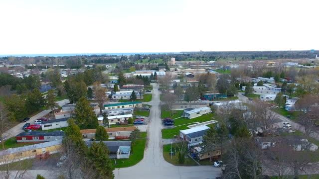 Poor community living in trailer park video