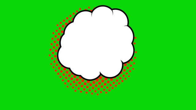 Pop art background animation, HD. Comic style cloud on green background. Pop art background animation, HD. Comic style cloud on green background. speech bubble stock videos & royalty-free footage
