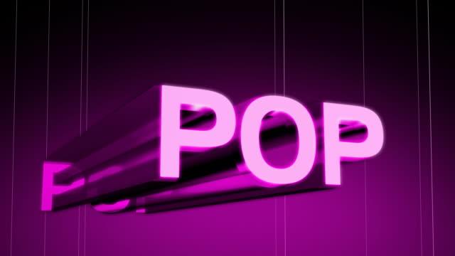 muzyka pop gatunek nagłówek - zachodnie pismo filmów i materiałów b-roll