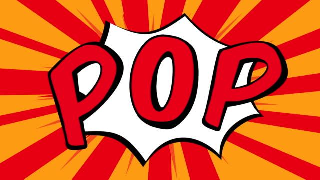 popart icona - pop art video stock e b–roll