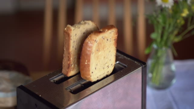 SLOW MOTION: Popping Toast video