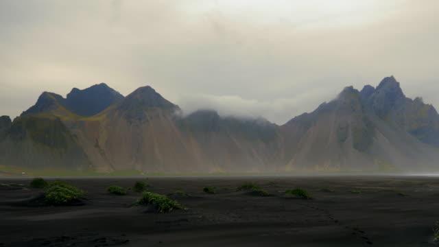 Popular tourist attraction, Stokksnes mountains, Vestrahorn in Iceland video