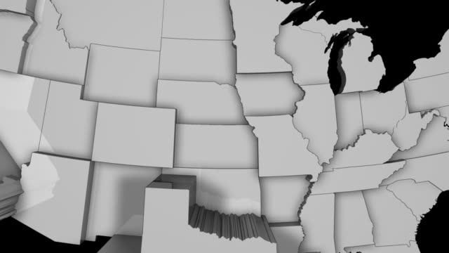 3D US Population Map 3 video