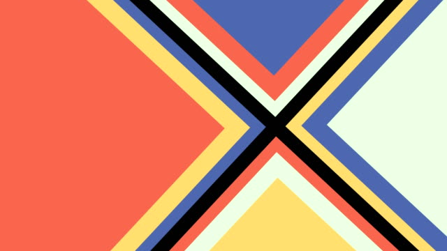pop-up triangle shapes animation