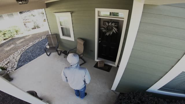Porch Pirate Steals Package Front Porch Security Camera