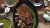 istock Pork Chop with Asparagus, Potatoes, and Mushrooms 951781670