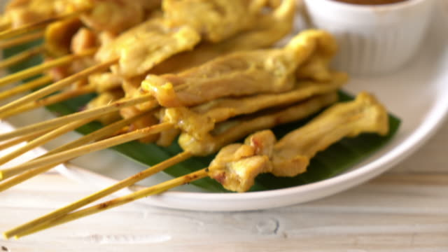 Pork satay - Grilled pork served with peanut sauce
