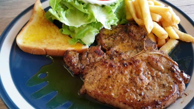 Pork shop steak