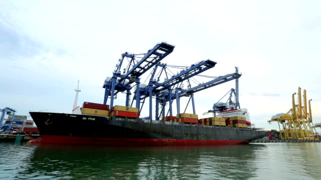 Port container terminal for transporatation your product video