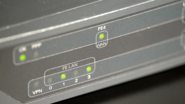 Port leds on a network router