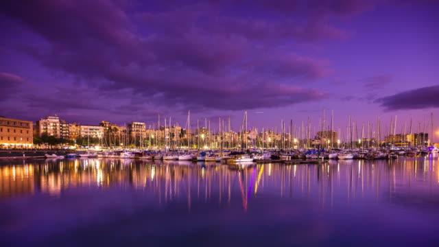 Port Vell, Barcelona Sunset - Time Lapse video