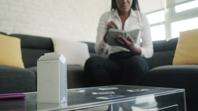 Portable Wi-fi Printer Printing Photos Pictures For Black Woman