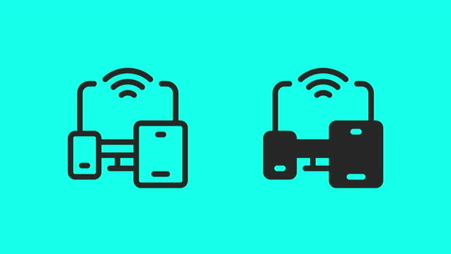 Portable Wireless Device Icons - Vector Animate Portable Wireless Device Icons Vector Animate 4K on Green Screen. multimedia stock videos & royalty-free footage