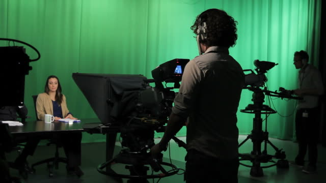 Portait of Camera opperator in Television studio video