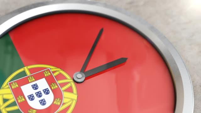 Porteguese Flag Clock Timelapse