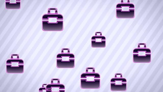 vidéos et rushes de icônes de portefeuille - book
