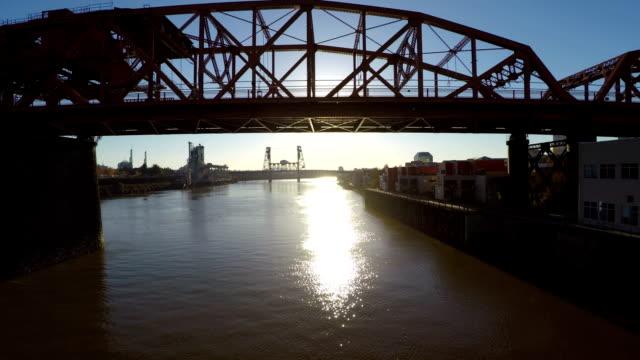 Portland Aerial River Bridges video