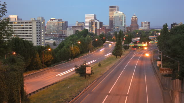 Portland Cityscape Time Lapse Highway 26 video