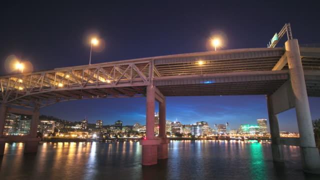 Portland Cityscape Time Lapse Sunset video