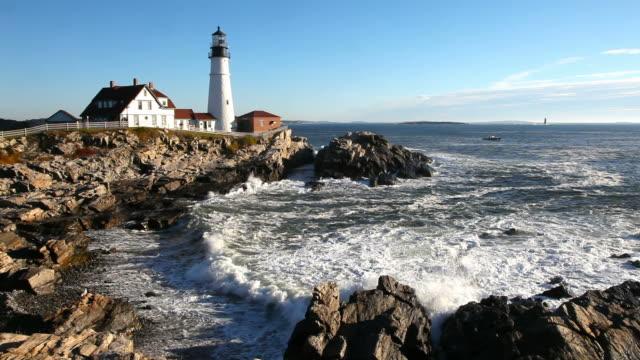portland head lighthouse - kustlinje bildbanksvideor och videomaterial från bakom kulisserna