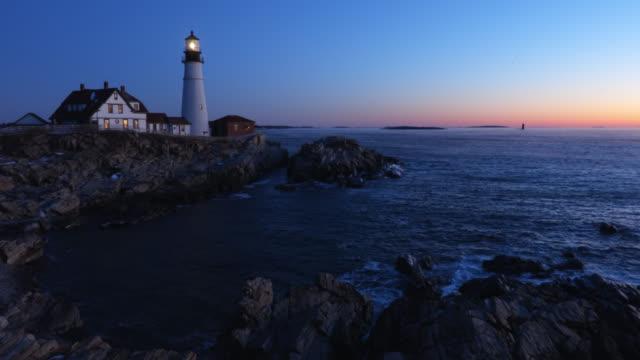 portland head lighthouse - leuchtturm stock-videos und b-roll-filmmaterial