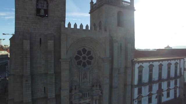 porto cathedral, portugal - gothic architecture stock videos & royalty-free footage