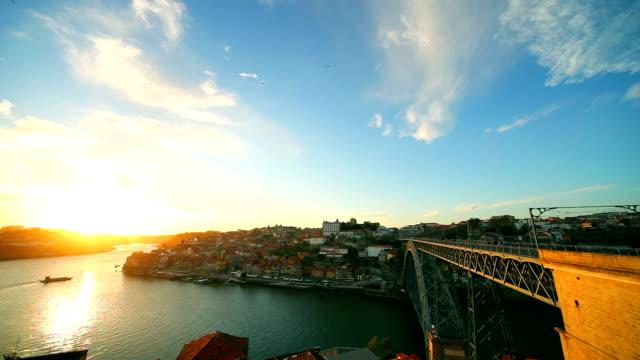 Porto seen from the top, bridge and cityscape