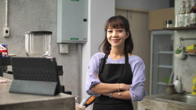 Portrait Cafe Asian owner