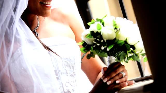 Portrait Close Up Ethnic Bride White Wedding Dress video