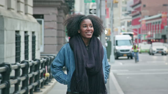 Portrait of a Beautiful African-American Woman in an Urban Setting