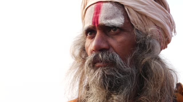 Portrait of a Holy Indian Sadhu video