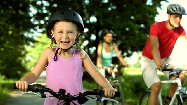 HD: Portrait Of A Little Girl With Bicycle video