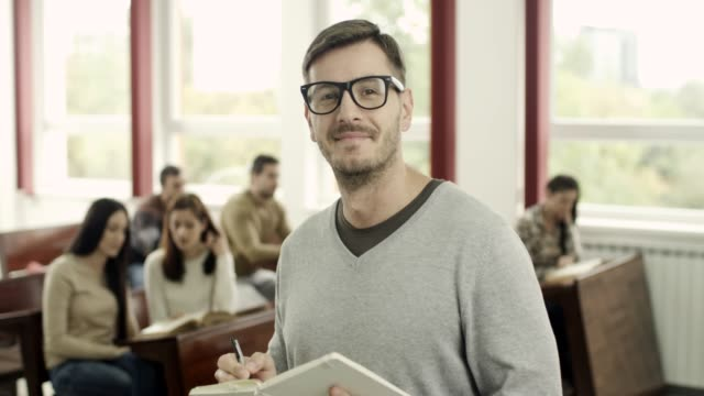 Portrait of a male student video