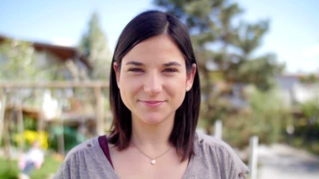 Portrait of a nice sympathetic girl video