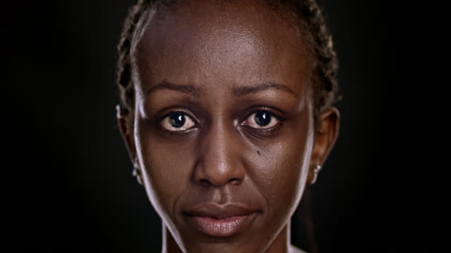Portrait of a sad African-American woman