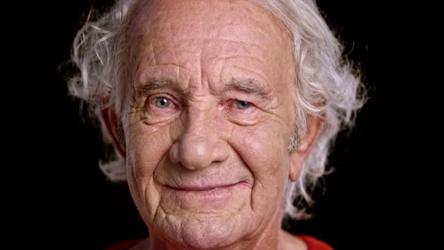 Portrait of a senior Caucasian man video