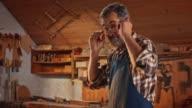 istock Portrait of a senior male carpenter in his workshop 1137368190