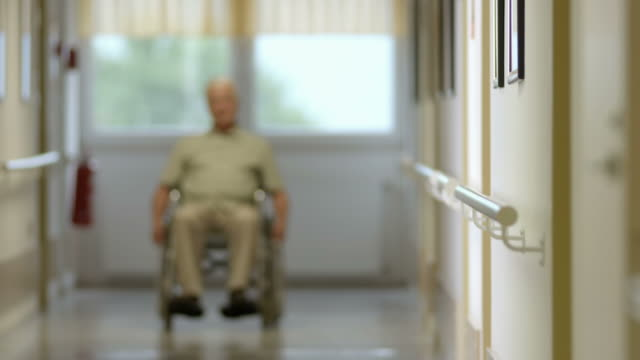hd: portrait of a senior man in wheelchair - senior care stock videos and b-roll footage