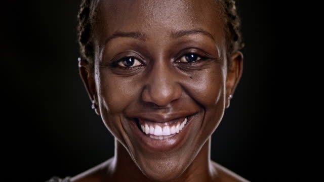 Portrait of a smiling African-American woman video