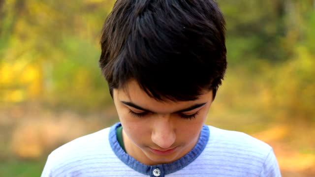 portrait of a young man video