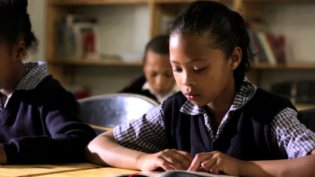 Porträt von eine junge Schulmädchen – Video