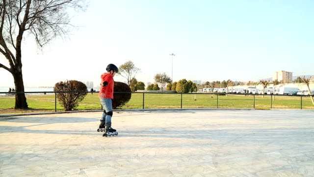 Portrait of a young skater boy video