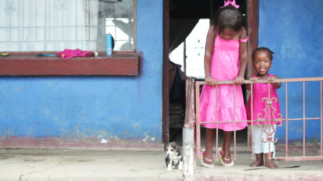 Portrait of African children at home video
